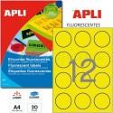 Etiquetas Adhesivas Apli Amarillo Fluorescente 60mm 20h