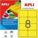 Etiquetas Adhesivas Apli Amarillo Fluorescente 99,1x67,7mm 20h