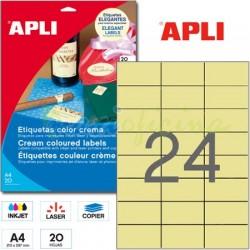 Etiquetas Adhesivas Apli Crema 70x37mm 20h