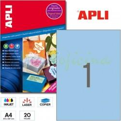 Etiquetas Adhesivas Apli Azul Pastel 210x297 20h