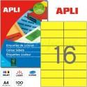 Etiquetas Adhesivas Apli Amarillo 105x37 mm. 100h
