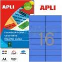 Etiquetas Adhesivas Apli Azul 105x37 mm. 100h