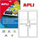 Etiquetas Adhesivas Glossy Apli 88,9x127mm 10h