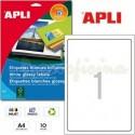 Etiquetas Adhesivas Glossy Apli 199,6x289,1mm 10h