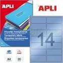 Etiquetas Adhesivas Poliester Transparentes Apli 99,1x38,1 mm 20h