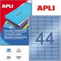Etiquetas Adhesivas Poliester Transparentes Apli 48,5x25,4 mm 100h