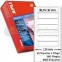 Etiquetas Adhesivas Papel Continuo Apli 88,9x36mm.
