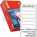 Etiquetas Adhesivas Papel Continuo Apli 101,6x48,7mm.