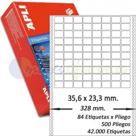 Etiquetas Adhesivas Papel Continuo Apli 35,6x23,3mm.