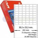 Etiquetas Adhesivas Papel Continuo Apli 31x23,3mm.