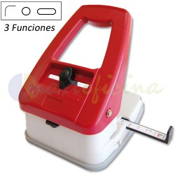 Perforadora y redondeadora de esquinas 3 funciones