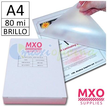 Fundas para Plastificar A4 80 micras MXO