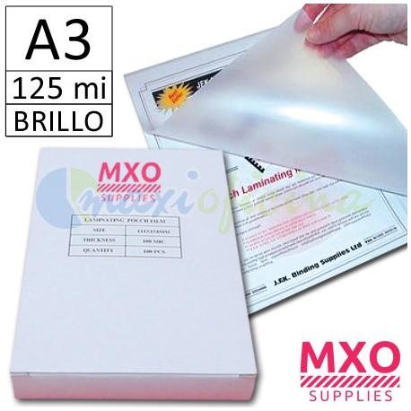 Fundas para Plastificar A3 125 micras MXO