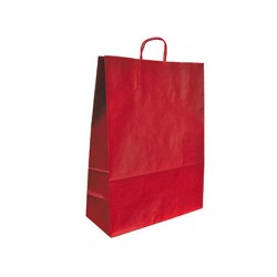BOLSA KRAFT Q-CONNECT ROJO ASA RETORCIDA 420X190X480 mm 25