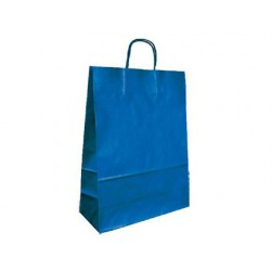BOLSA KRAFT Q-CONNECT AZUL ASA RETORCIDA 420X190X480 mm 25
