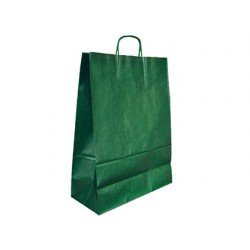BOLSA KRAFT Q-CONNECT VERDE ASA RETORCIDA 270X120X360 mm 25