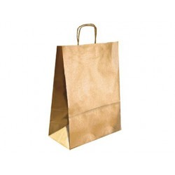 BOLSA KRAFT Q-CONNECT ORO ASA RETORCIDA 270X120X360 mm 25
