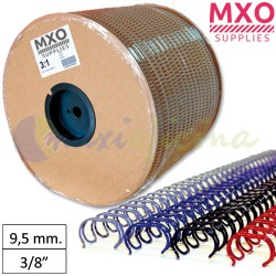 "Bobina de Wire-O nº6 - 9,5mm 3/8"" 46.000 Anillas"