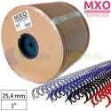 """Bobina de Wire-O nº16 - 25,4mm 1"""" 4.500 Anillas"""
