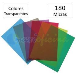 Portada Encuadernación PVC A4 200 micras Colores Transparentes