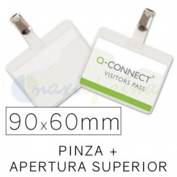 Identificador Personal Q-Connect 90 x 60mm. Apertura Sup.