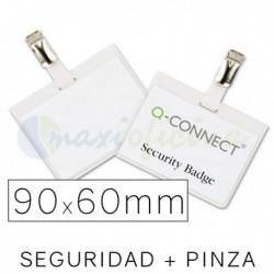 Identificador Personal Q-Connect 90 x 60mm. Seguridad y Pinza