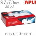Identificador Personal Apli 97 x 73mm. Pinza de Plástico. 25 ud.