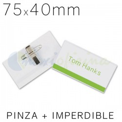 Identificador Personal Q-Connect 75 x 40mm. Pinza e imperdible