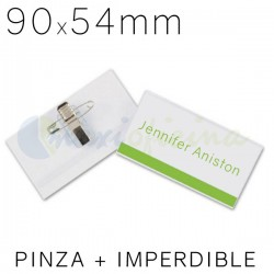 Identificador Personal Q-Connect 90 x 54mm. Pinza e imperdible