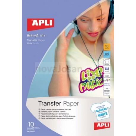 Papel Transfer Apli para INKJET 10 hojas