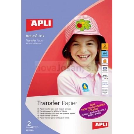 Papel Transfer Apli para Todas Prendas INKJET 2 hojas