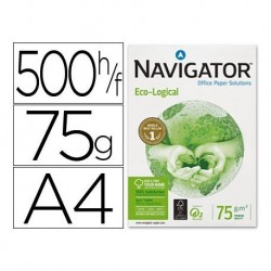 PAPEL FOTOCOPIADORA NAVIGATOR ECO LOGICAL DIN A4 75 GRAMOS