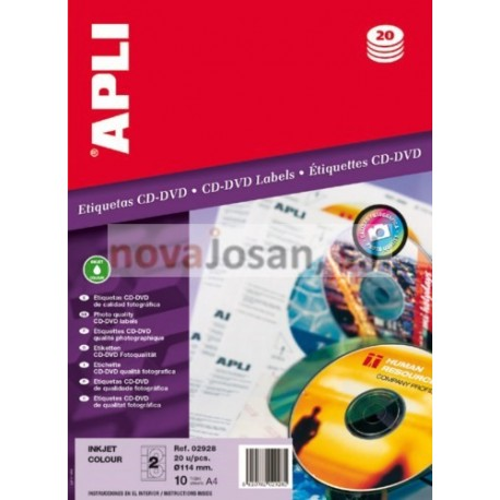 Bolsa INK GLOSSY CD-ROM 114 10 hojas