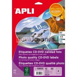 Bolsa Etiquetas Apli CD CALID. FOTO 10 hojas
