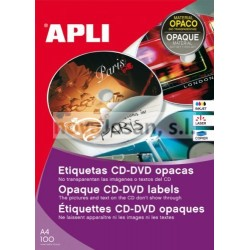 Caja Apli Etiquetas Apli Blancas OPACA CD-ROM 100 hojas