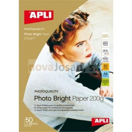 Caja Apli P-A3 INK PHOTO Brillo 200g. 50 hojas