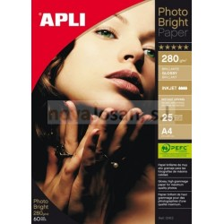Bolsa Apli PAPEL INK PHOTO Brillo Apli 280g. PEFC 25 hojas