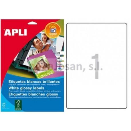 Bolsa Fotos autoahesivas Apli Láser y Copiad. COL.GLOSSY 199.6X289.1 10 hojas
