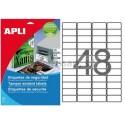 Etiquetas Adhesivas Poliéster Blanco Apli Laser SEGURIDAD 45,7x21,2mm 10h