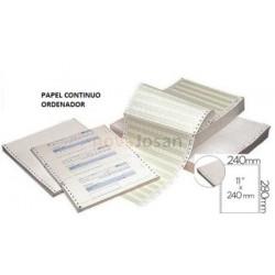 Papel continuo para Ordenador Blanco Original y Copia 240mm. x 11 pug.