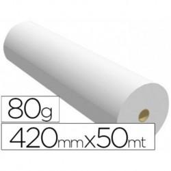 Papel reprografia plotter 420mmx50mt 80gr impresion ink-jet. 2 BOBINAS