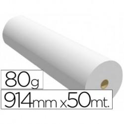 Papel reprografia para plotter 914mmx50mt 80gr impresion ink-jet. 2 BOBINAS
