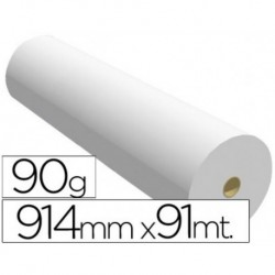 Papel reprografia para plotter 914mmx91mt 90gr impresion ink-jet.. 2 BOBINAS