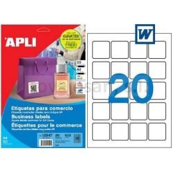 Bolsa Apli Etiquetas COMERCIO QR+CD 45X45 20 hojas