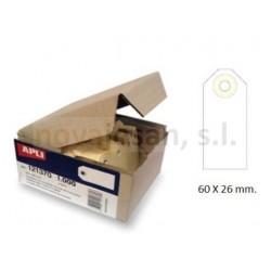 Caja Apli ETIQUETAS CON ARANDELA 60 x 26mm (1000 u)