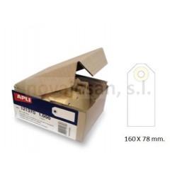 Caja Apli ETIQUETAS CON ARANDELA 140 x 70mm (1000u)
