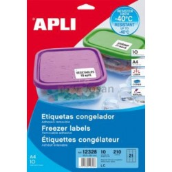 Etiquetas para congelador 63.5 x 38.1mm