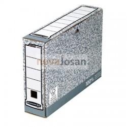 Caja de archivo definitivo A4 gris 80 mm gris