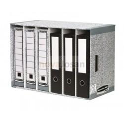 Clasificador de archivadores gris