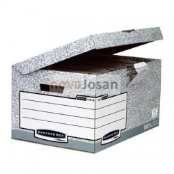 Maxi contenedor de archivos con tapa fija gris
